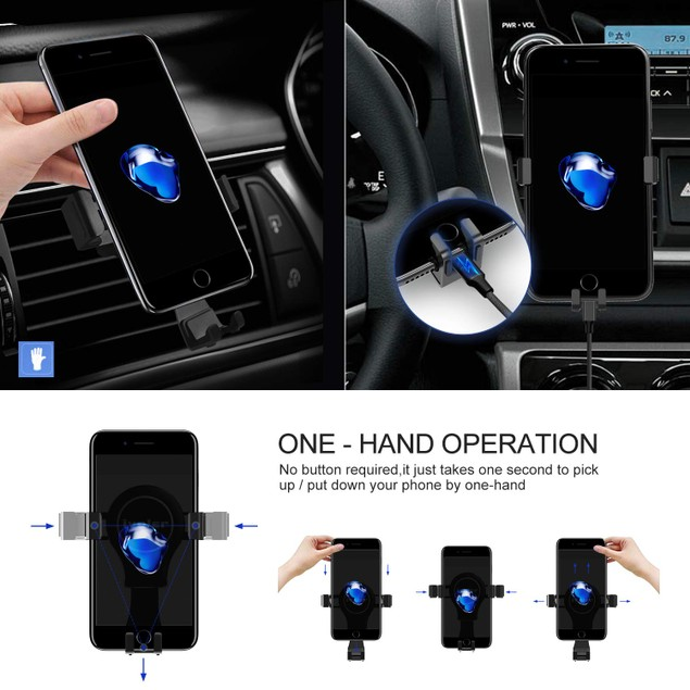 Universal Gravity Smartphone Car Air Vent Mount