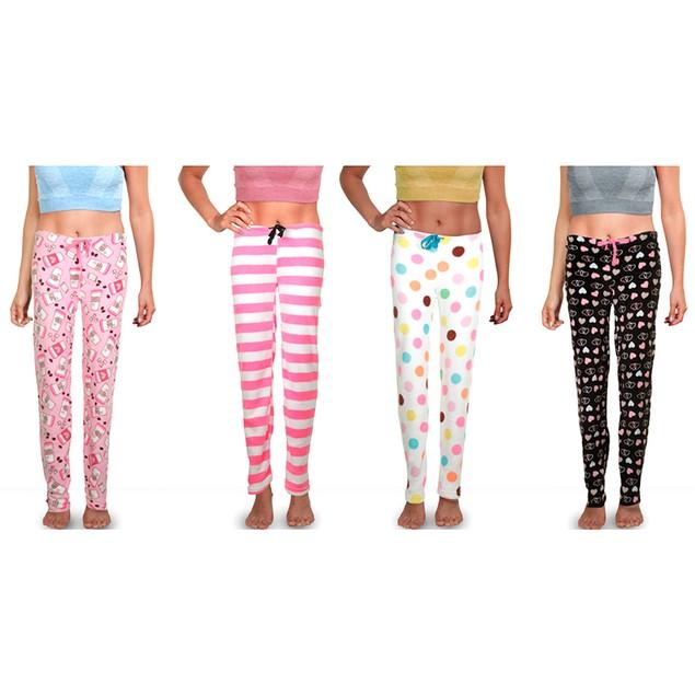 3-Pack Mystery Women's Soft & Plush Fleece Pajama Pants