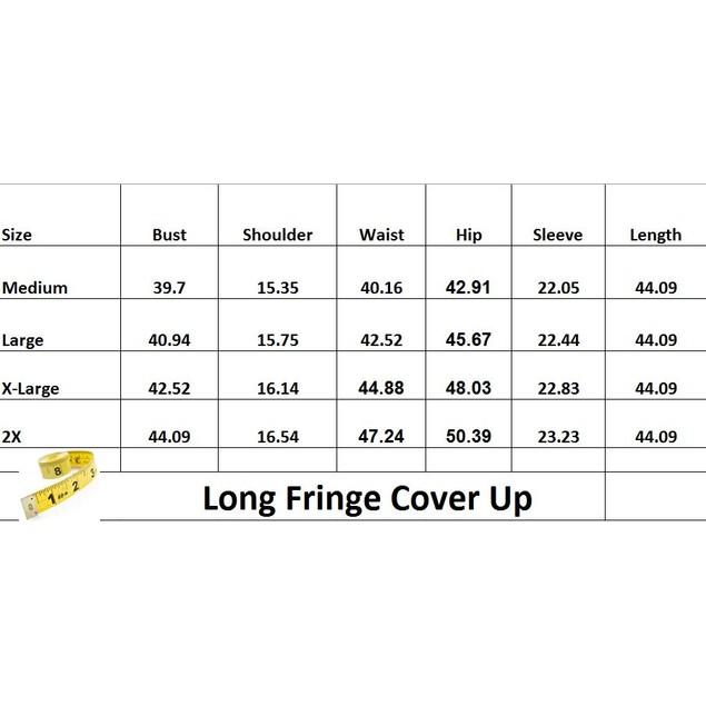 Long Fringe Cover Up