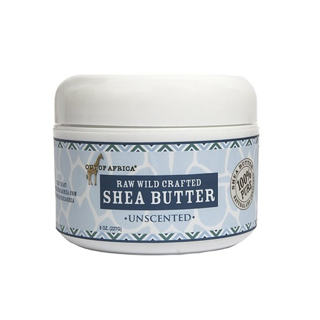 Out of Africa Unscented Raw Shea Butter, 8 Ounce Jar