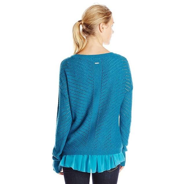 prAna Women's Ellery Sweater, X-Large, Mosaic Blue
