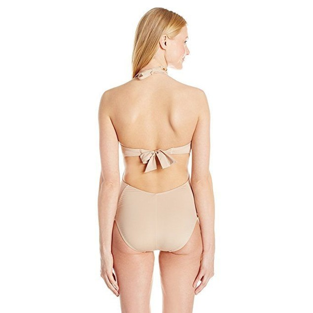 Kenneth Cole New York Women's Sexy Solids Push up Mio One Piece SZ:L