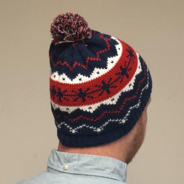 Kevin McCallister Snowflakes Blue Knit Beanie Hat