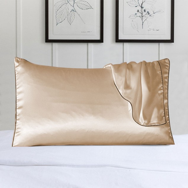 100% Silk Pillow Cover With Trim