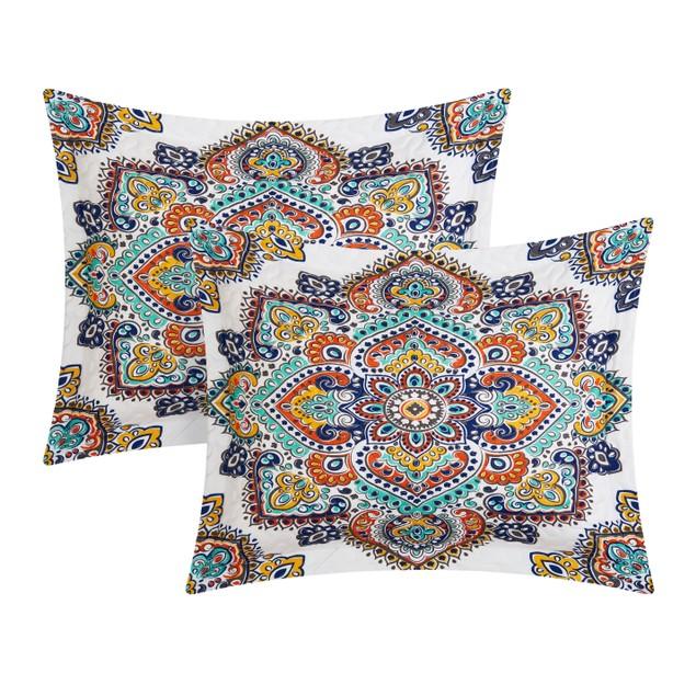 Chic Home 3/4 Piece Auvergne Paisley Print REVERSIBLE Quilt Set