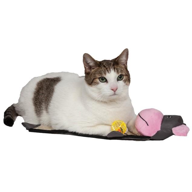 Pet Life Paw-Pleasant Sisal And Jute Hanging Carpet Kitty Cat Scratcher