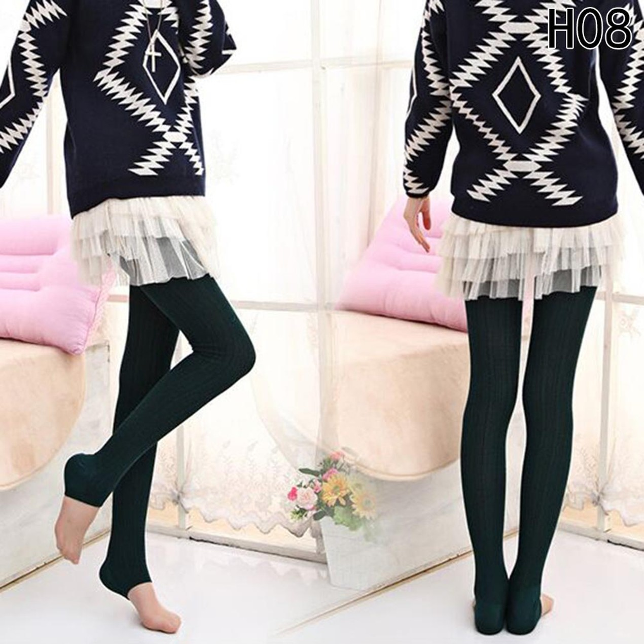 fa86d5de7ff ... Women Winter Spring Autumn Cotton Stockings Warm Wool Tights Pantyhose  ...
