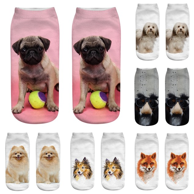 Casual Cotton Socks 3D Printing Medium Socks Cartoon Socks Sports Socks f