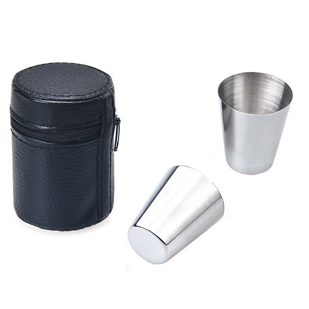 6 pieces 30ML Cups Bowls Stainless Steel Set Wine Beer Mugs