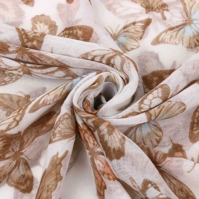 New Arrival Women Fashion Printed Butterfly Satin-Silk Square Scarf Shawl