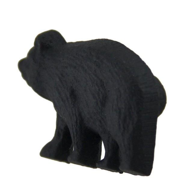 12 Piece Matte Black Forest Bear Cast Iron Drawer Pulls