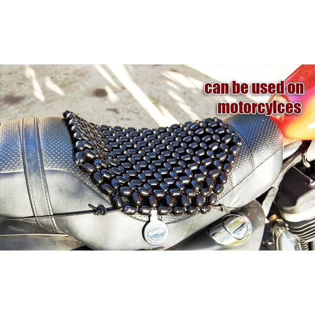 Zone Tech 2x Wooden Beaded Chair Motorcycle Cover Cushion Pad Massage