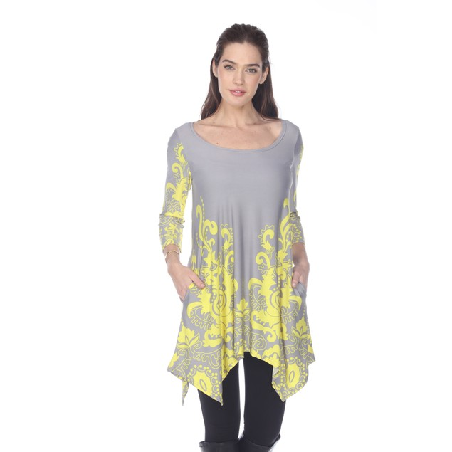 Yanette Tunic Top - 9 Colors - Regular & Extended Sizes