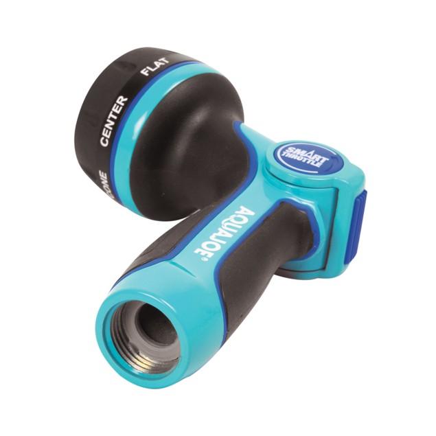 Aqua Joe Heavy Duty Multi-Function Adjustable Hose Nozzle w/ Smart Throttle