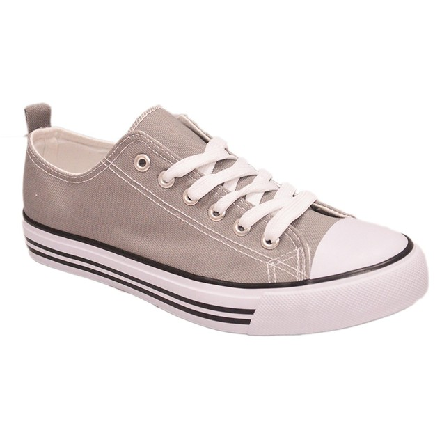 Women's Sneakers Casual Canvas Shoes Solid Colors Low Top Lace up Fashion