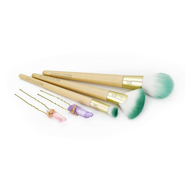 Ecotools Travel and Glow 3 Makeup Brushes and Zip Case, 1.0 Ea