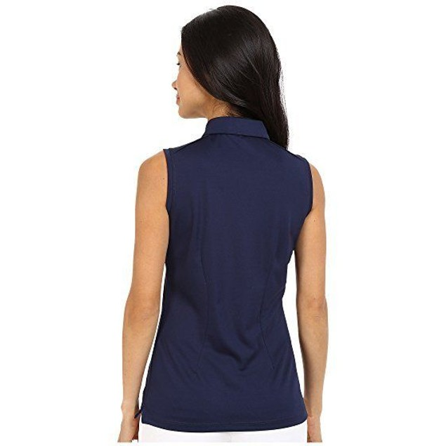 NIKE Golf Women's Victory Solid Sleeveless Polo College Navy/White XS