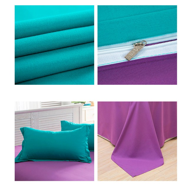 Lake Green Sheet Bedding Solid Colors Single Twin Full Queen Double King