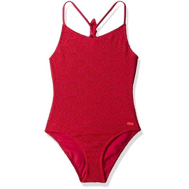 Roxy Girls' Big Helloo Summer One Piece Swimsuit, Vivacious, 12