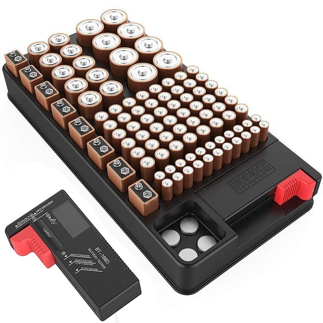 ZeroDark Battery Organizer Storage Case with Removable Battery Tester