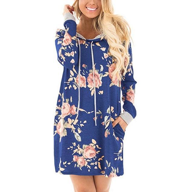 Floral Hoodie Dress