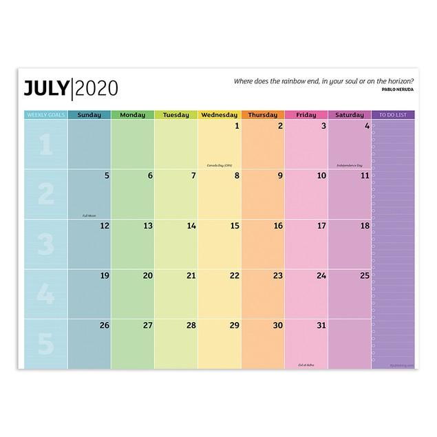 July 2020 - June 2021 Mini Desk Pad Monthly Blotter Calendar