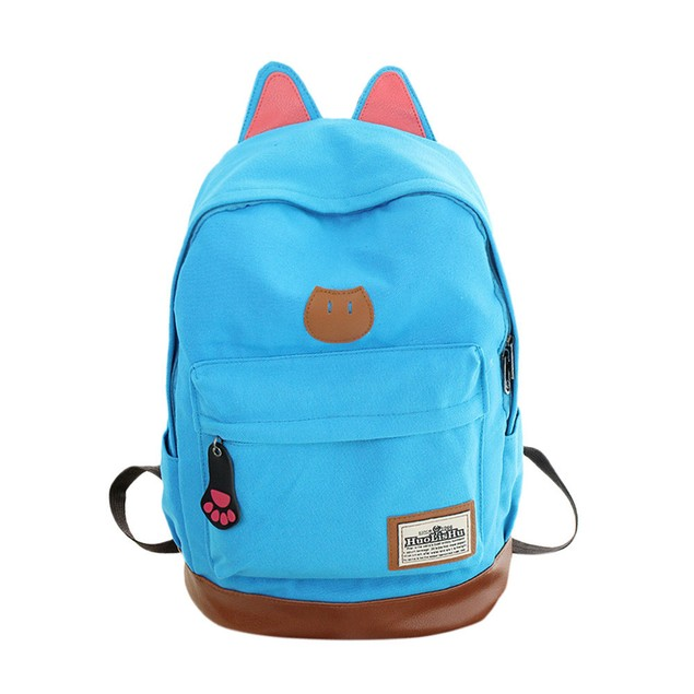 Fashion Cartoon Zipper Backpack School Bags Fashion Shoulder Bag