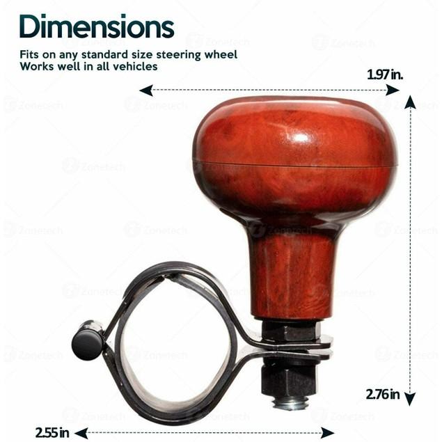 Zone Tech Woodgrain Steering Wheel Spinner Suicide Brodi Knob