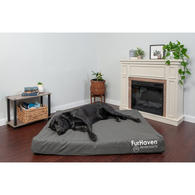 FurHaven Deluxe Orthopedic Oxford Indoor/Outdoor Pet Bed for Dogs & Cats