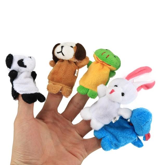 Finger Puppets - 10 pcs Velvet Animal Soft Plush Family Puppets