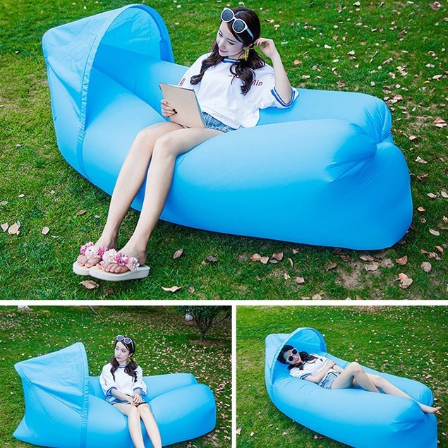 Quick inflatable sofa / bed / boat Leisure sleeping bags Camping bed