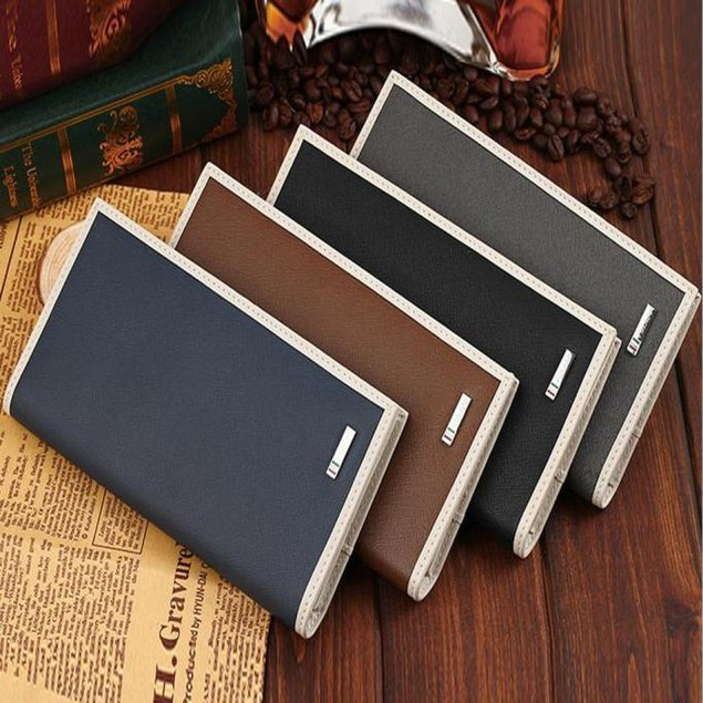 Men Real Leather Wrist Clutch Wallet Card Purse Zipper Coin Pocket Handbag