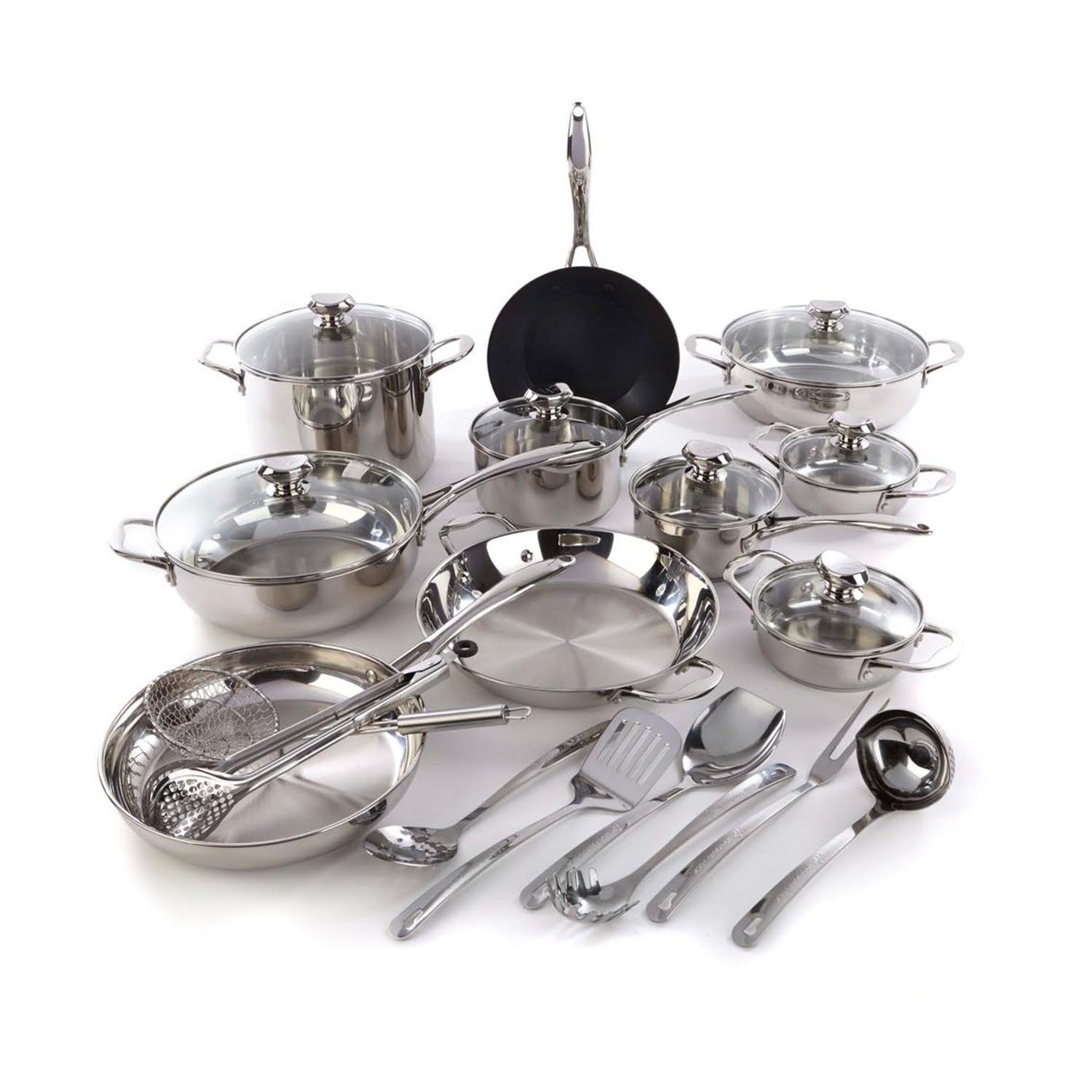 Wolfgang Puck Bistro Elite 25-piece Stainless Steel Cookware ...