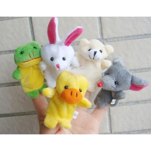 10pcs Animal Finger Puppet Plush Child Baby Early Education Toys