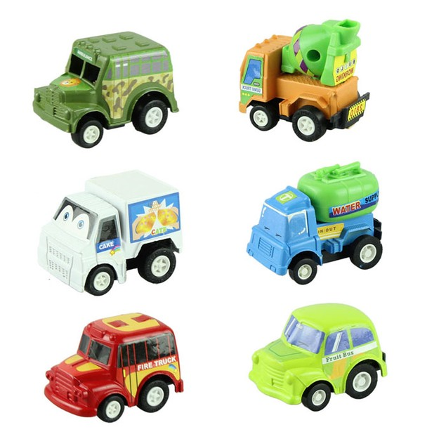 multicolor plastic mini pull back model car educational toys children