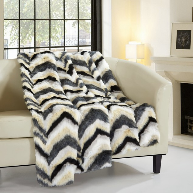 Chic Home Myraflor New Faux Fur Collection Throw Blanket