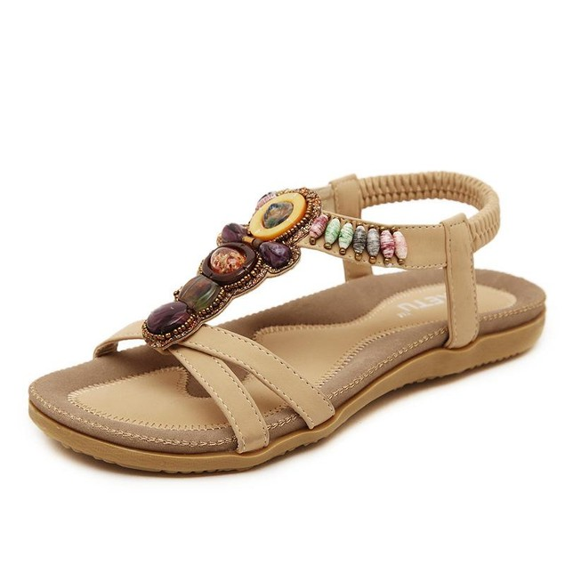 Comfy sandals - Bohemia Bead Flat Bottomed Sandals
