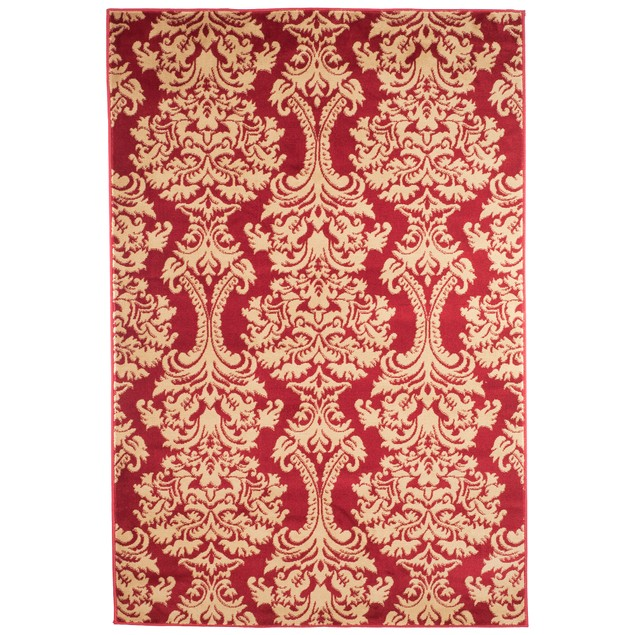 Oriental Area Rug - Red & Gold