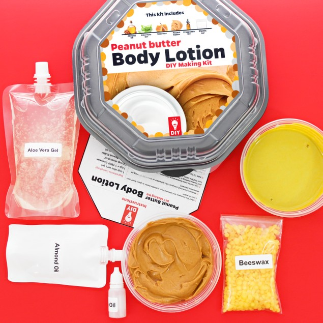 Peanut Butter Body Lotion DIY Making Gift Kit