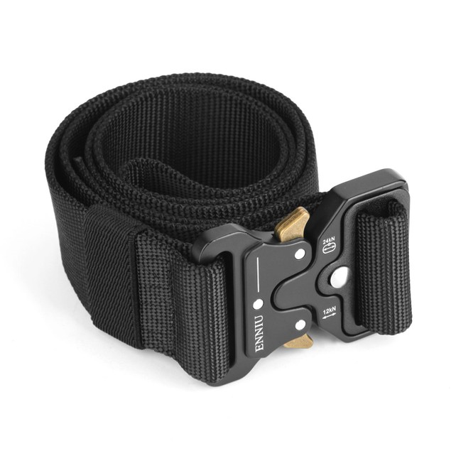 Adjustable Heavy Duty Nylon Webbing Quick Release Military Tactical Belt