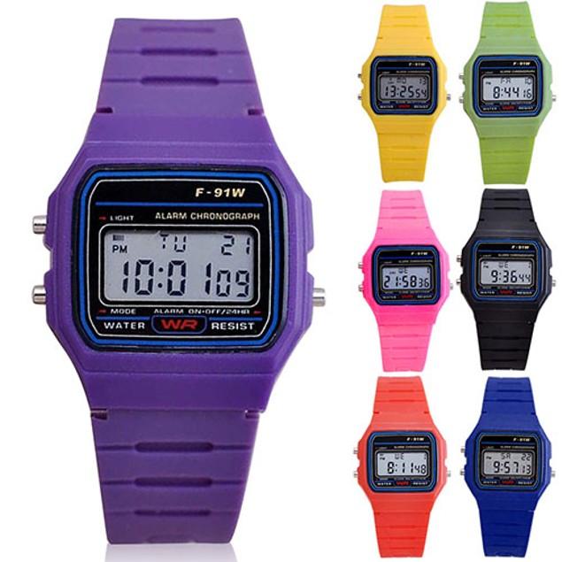Men Women LED Digital Multifunction Plastic Sports Wrist Watch