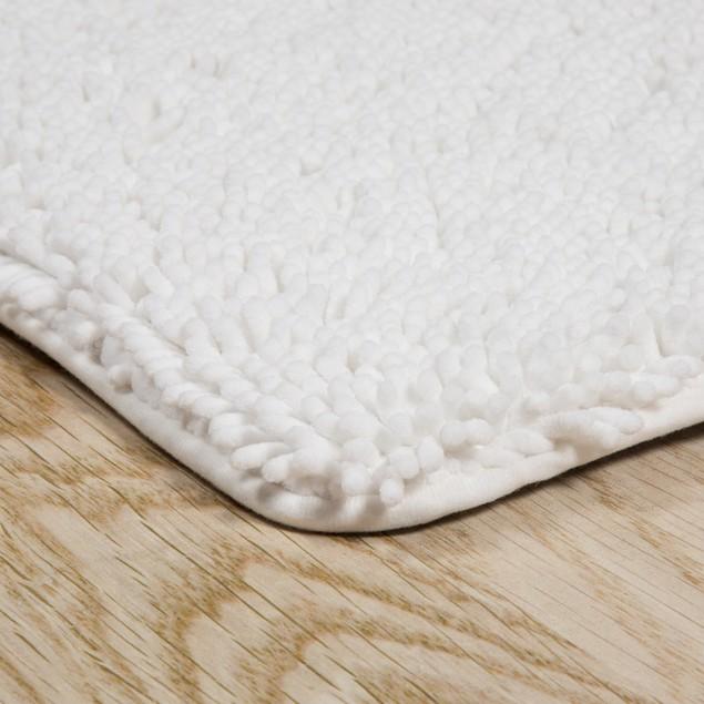 Lavish Home 2 Piece Memory Foam Shag Bath Mat