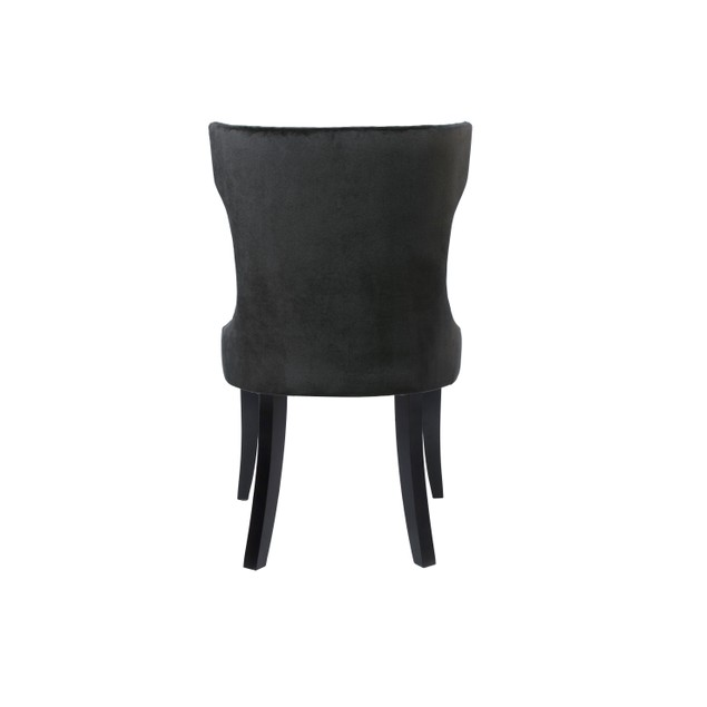 Chic Home Narciso Velvet PU Leather Dining Side Chair, Set of 2