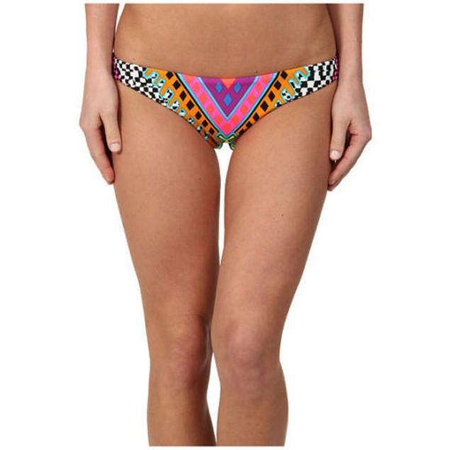 Mara Hoffman Reversible Ruched Bikini Bottoms, Horizon White SIZE LARG