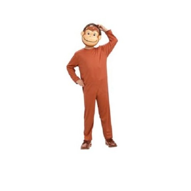 Curious George Child Costume And Mask Monkey Book Movie TV Show Cartoon