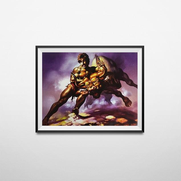 White Goodman Bull By The Horns Poster 18 x 24