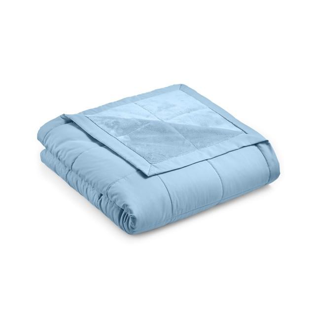 Martha Stewart Down Alternative Reverse to Plush Full/Queen Blanket, Dusk