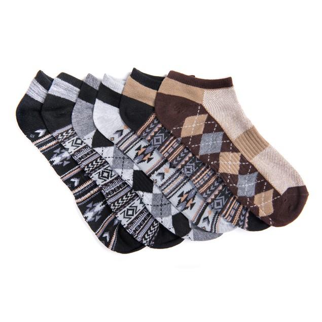 MUK LUKS ® Men's 6 Pair Pack No Show Compression Arch Socks