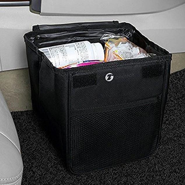 Zone Tech Car Trash Garbage Storage Bin Organizer Holder Litter Leakproof