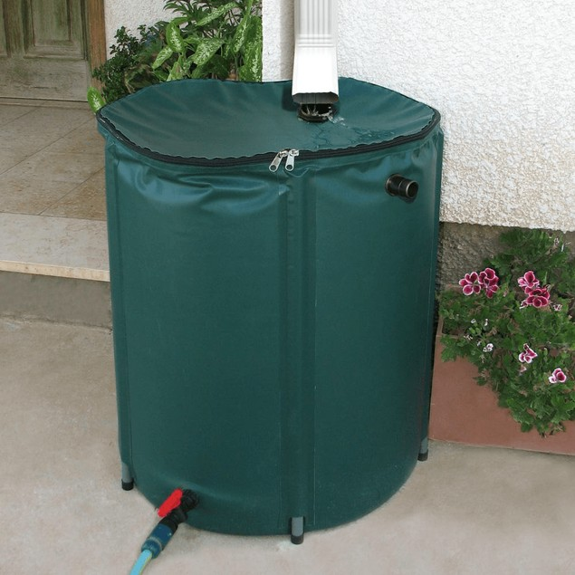 Collapsible 50 Gallon Rain Barrel Kit Rain Water Collection Barrel